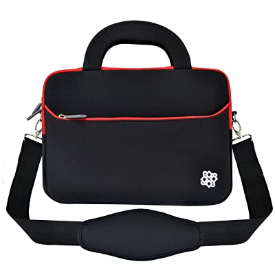 "13"" Laptop Sleeve Shoulder Bag, KOZMICC 13 13.3"" Neoprene Messenger (Black) Handle Strap Case for Apple MacBook Air Pro 2016 Dell HP Microsoft Surface Lenovo Acer ASUS Chromebook Laptop Ultrabook"
