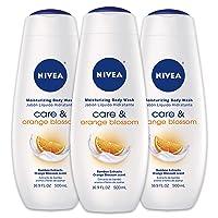 3-pack NIVEA Care & Orange Blossom Moisturizing Body Wash