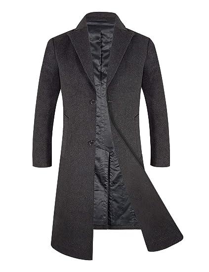0078dcd942d2 APTRO Mens Winter Coat Long Thick Warm Slim Fit Business Coat 1817   Amazon.co.uk  Clothing