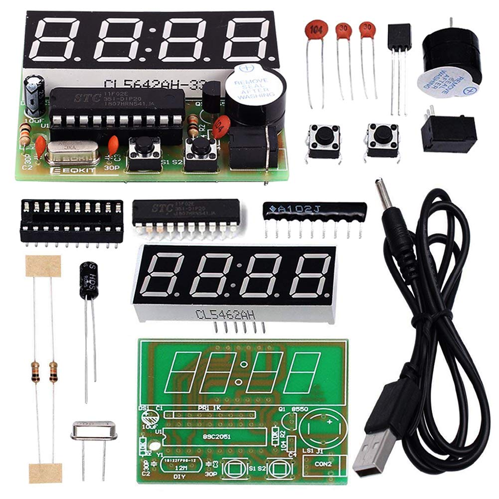 Is Icstation 056 C51 4 Bits Digital Electronic Clock Led Strobe Circuit Amazon Account Pinterest Kit Soldering Practice At89c2051 Board Diy Learning Kits Toys Games