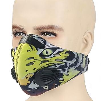 ANGOO Máscara Antipolvo de Filtración de Carbono Activado para Entrenamiento de Ciclismo, Antipolvo, antipolen