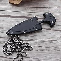 Handfly Jagdmesser Multifunktions Stil Halskette gerade Messer Camping tragbare Mini Survival Tactic Handfly