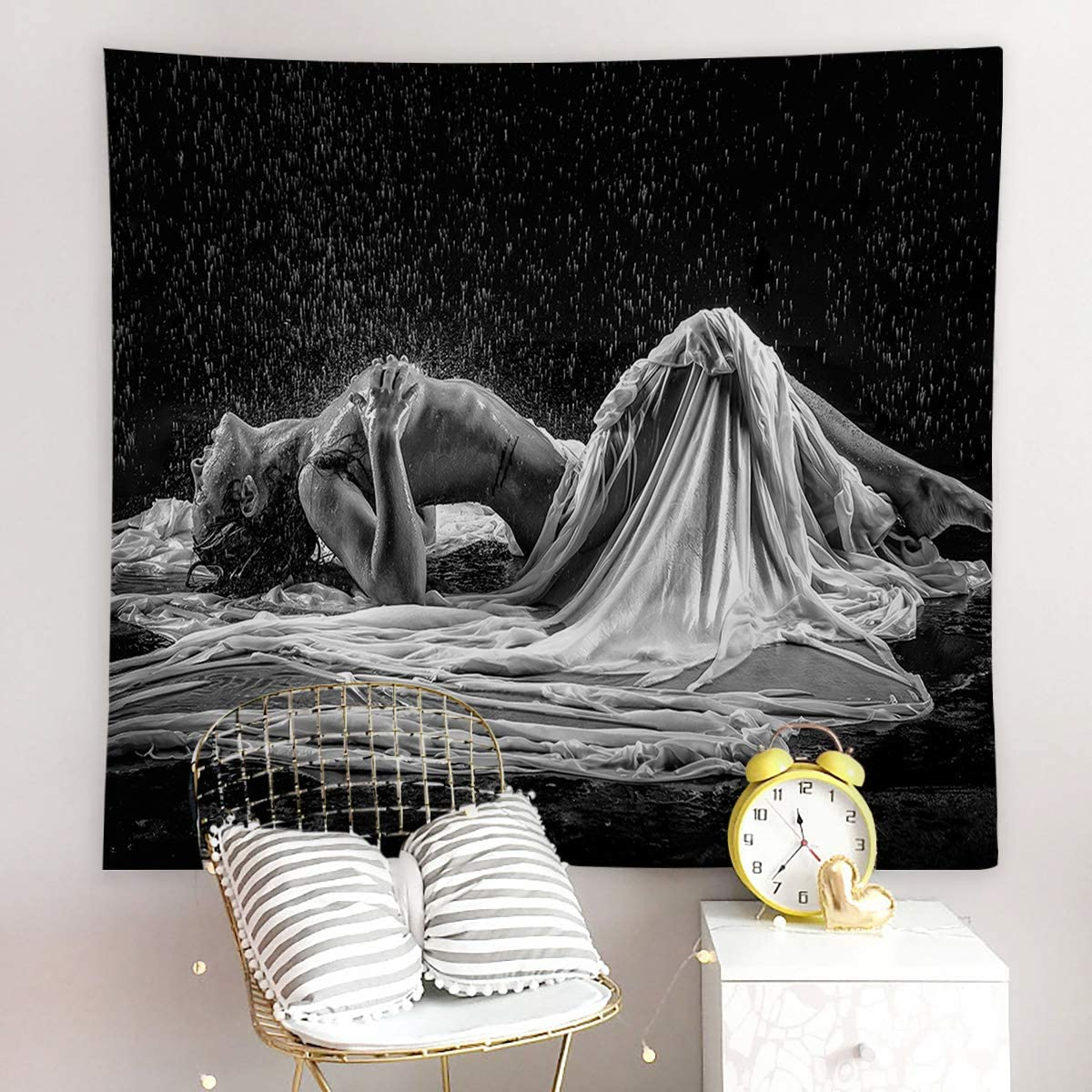 Ocean Rain Tapestry Art Wall Hanging Sofa Table Bed Cover Home Decor