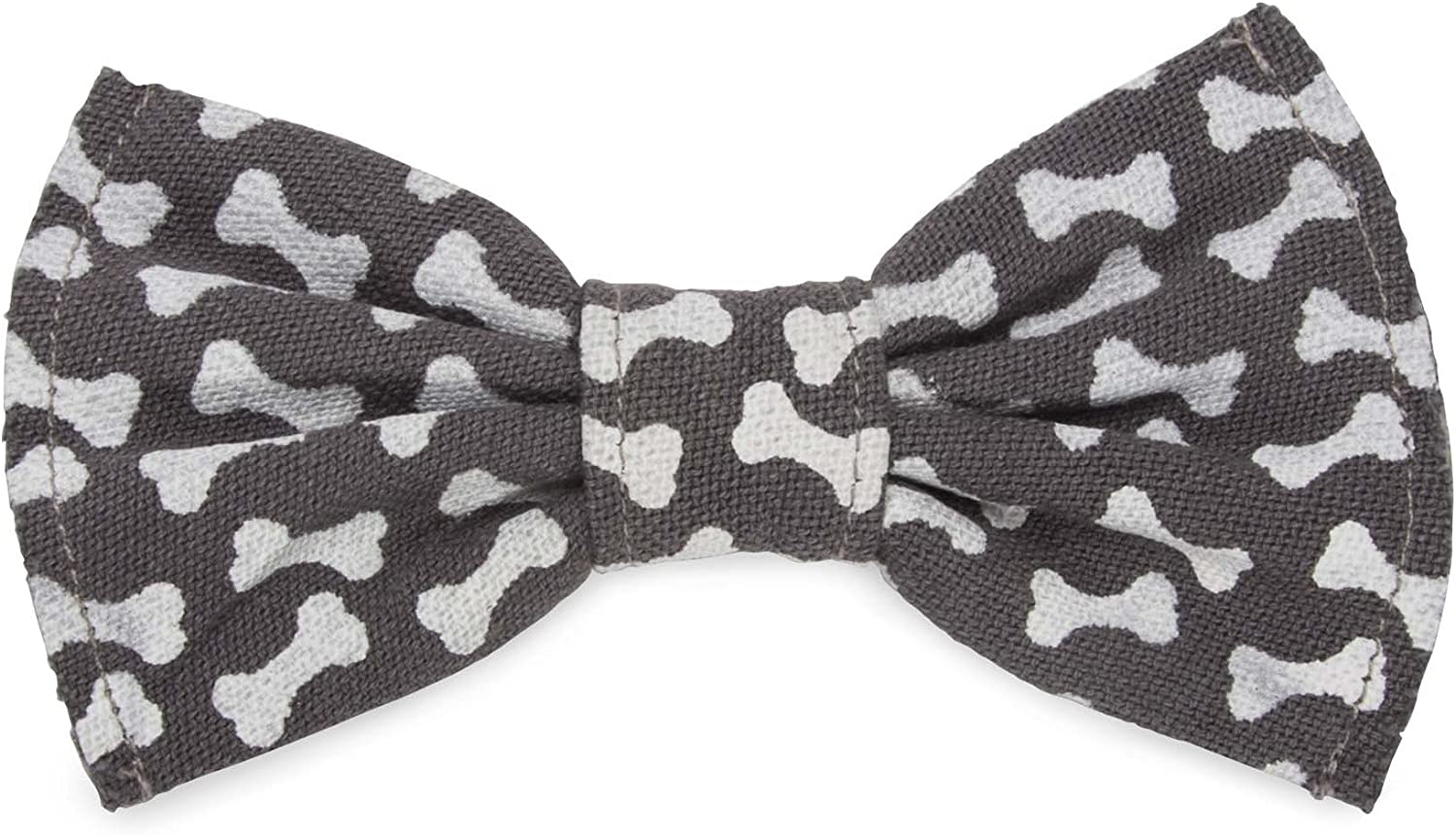 Brown with Colorful Bones Dog Bow Tie