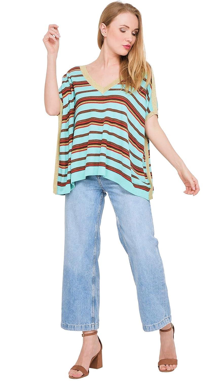 3654 Stripe Sweater Summer Collection Women