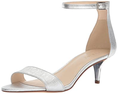 Womens Leisa Ankle Strap Sandals, Gold Nine West