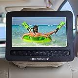 DBPOWER – Bacheca con Cinghie per Poggiatesta Auto per Lettore Portatile DVD Girevole e Inclinabile fino a 9,5 inch