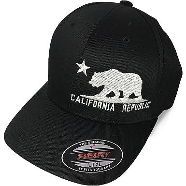 a877793ee7f11 California Flag Flexfit Baseball Hat Asst Colors Grey at Amazon ...