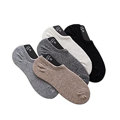 Men Non-Slip Casual Low-Cut Invisible Liner Socks No Show Trainer Socks