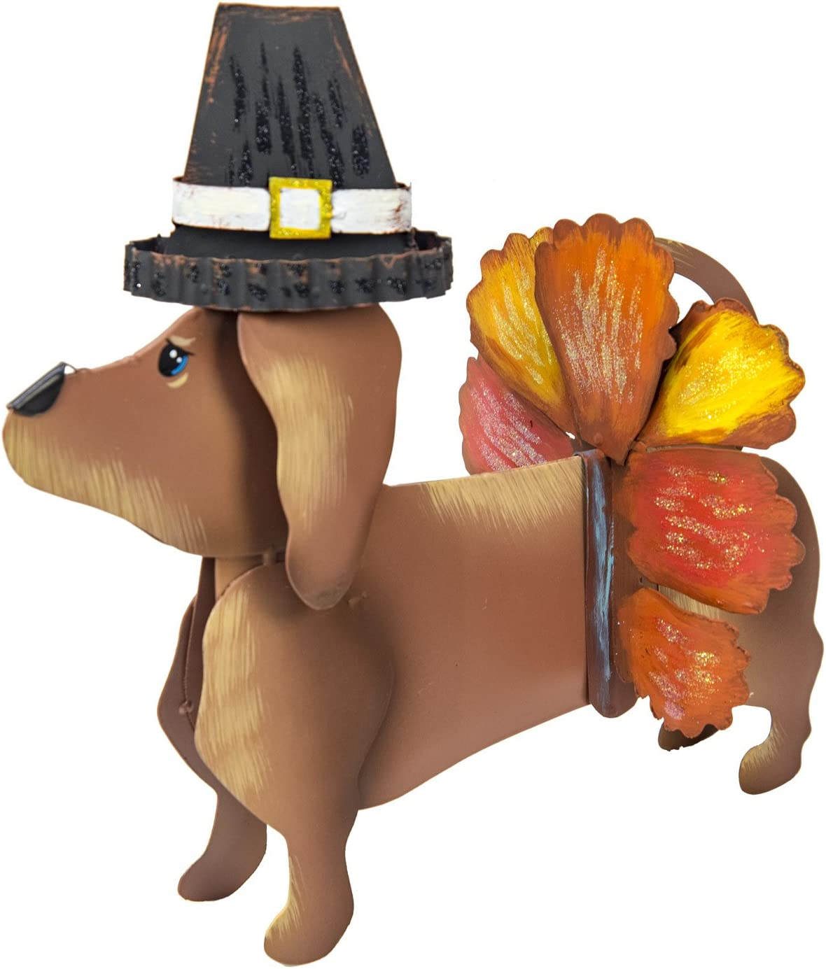 The Round Top Collection - Dress-Up Dachshund Pilgrim Turkey Outfit - Metal