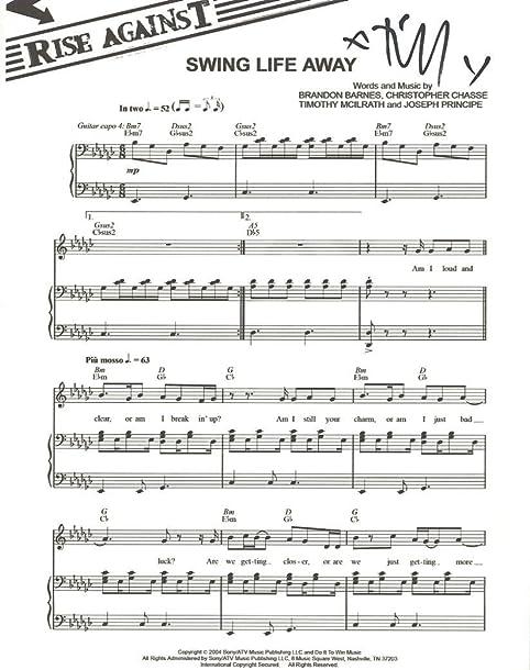 swing life away sheet music - Heart.impulsar.co