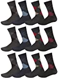 12 Pairs Mens Designer Patterned Cotton Formal Dress Socks Size UK 6-11 EUR 39-45