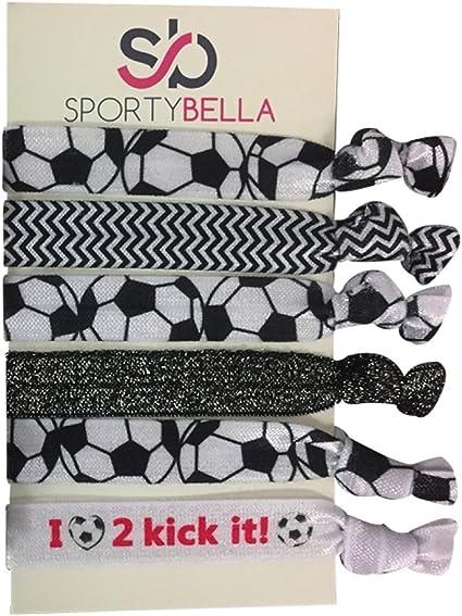 Soccer Hair Ties