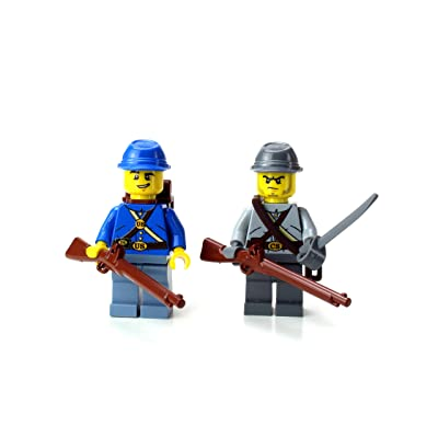 Battle Brick Union and Confederate Soldiers -(SKU77) Custom Minifigure: Toys & Games