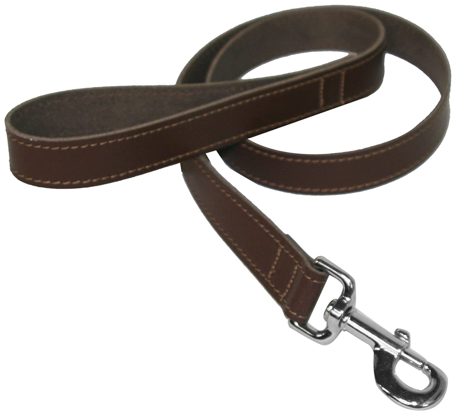 BBD 3//4 x 40-inch Leather Lead Red