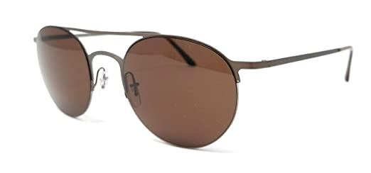 9694ce414a30 Image Unavailable. Image not available for. Color  Giorgio Armani AR6023  305773 Brown AR6023 Round Sunglasses ...