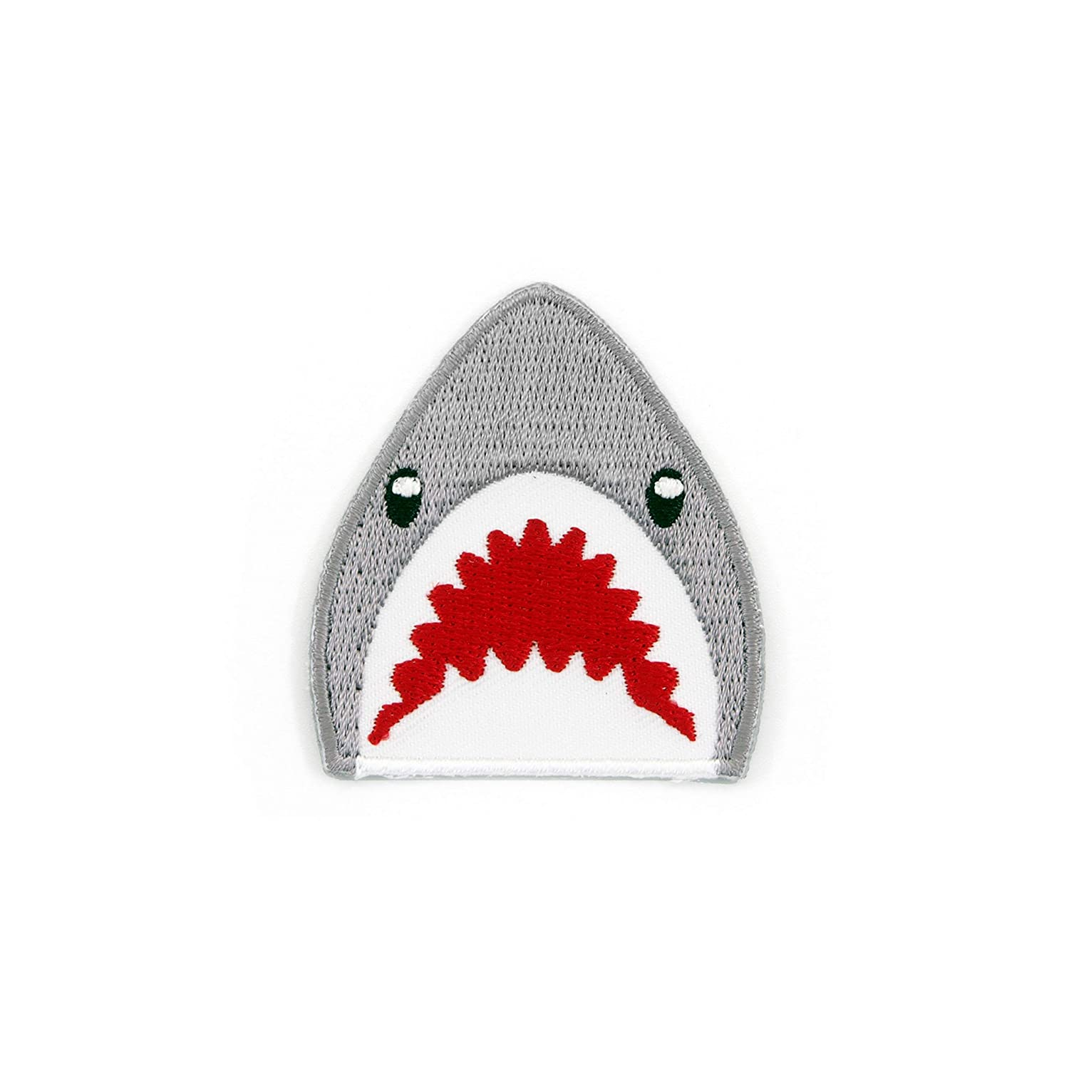 Winks For Days Shark Emoji Embroidered Iron-On Patch