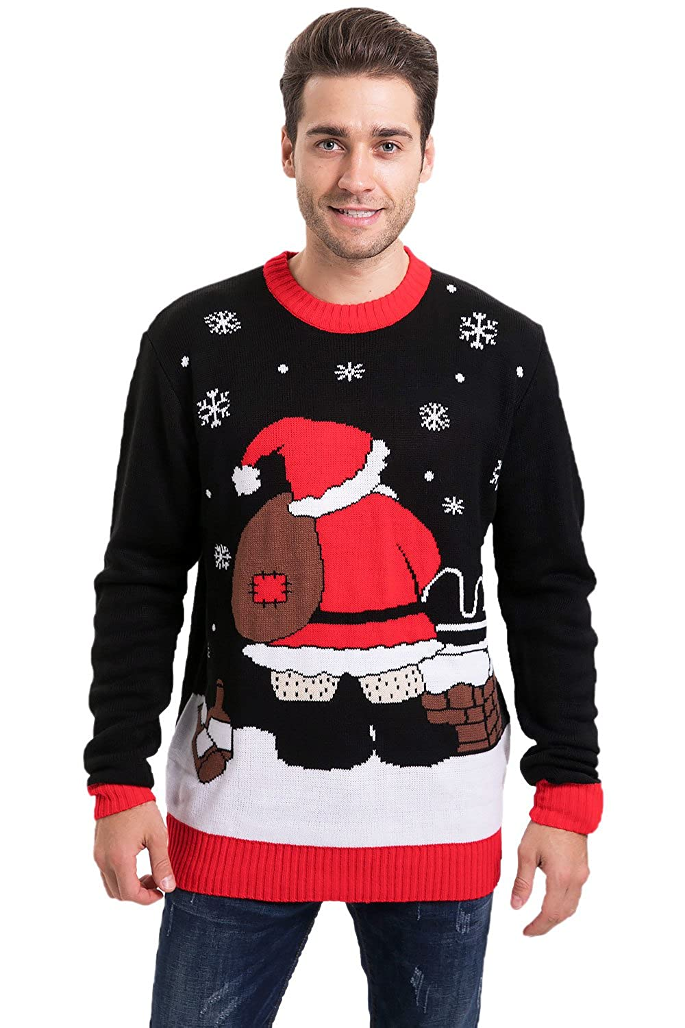 Arvilhill Men's Christmas Funny Ugly Sweater Pullover AV120001C
