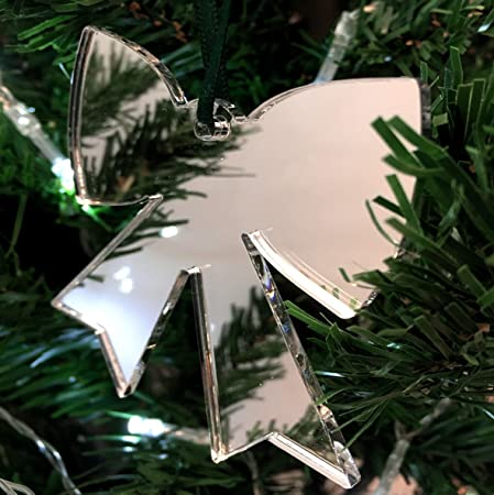 Mirrored Bow Christmas Tree Decoration   Pack Of Ten