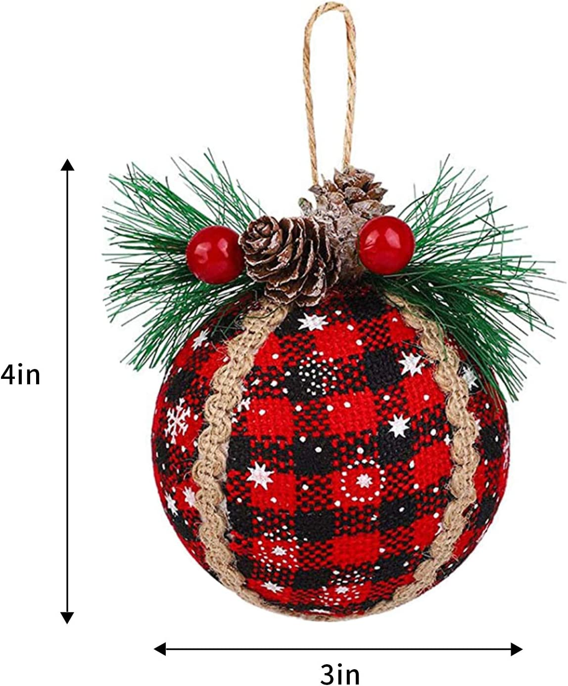 3pc Red and Black Plaid Bible VerseQuote Ornaments Shipping Included