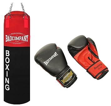 gef/üllt inkl Bad Company Box-Set I Canvas Boxsack Boxhandschuhe White Tiger I 100 x 30 cm I 80 x 30 cm Heavy Duty Deckenbefestigung