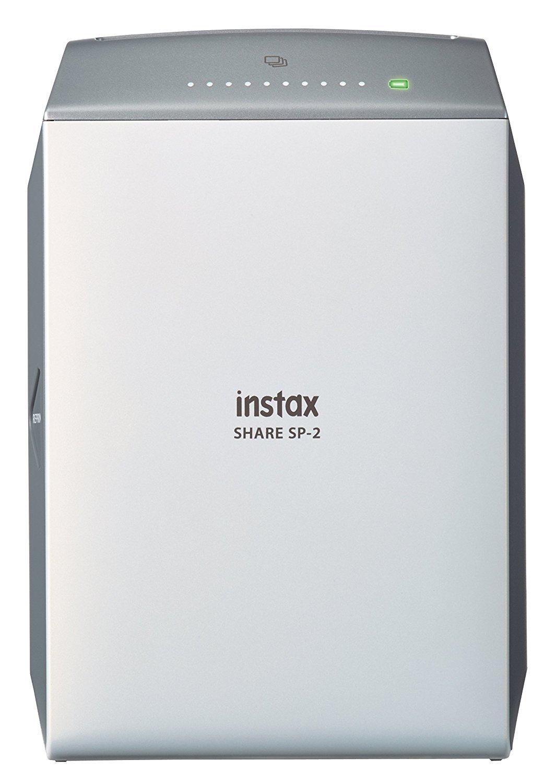 Instax Share SP-2 Drucker sofort fü r Smartphone und Kamera, Silber FUJIFILM 16522218
