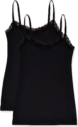 Marca Amazon - IRIS & LILLY Camiseta Interior de Tirantes para Mujer, Pack de 2: Amazon.es: Ropa y accesorios
