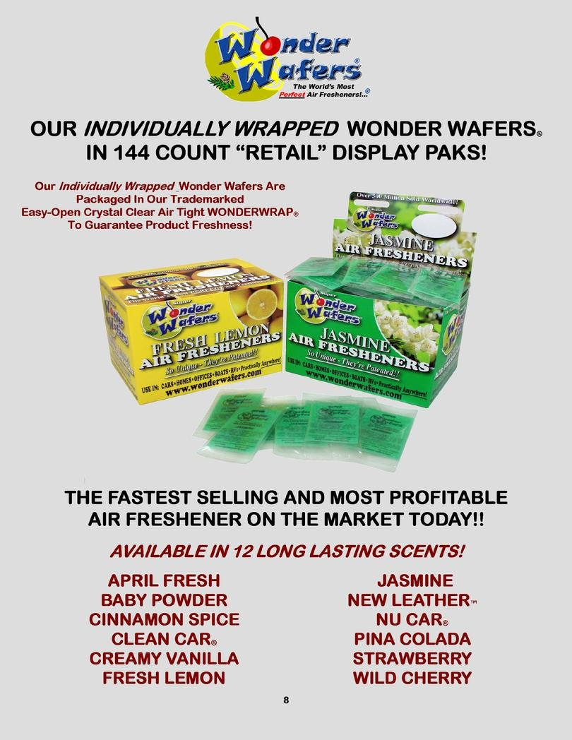 Amazon com super wonder wafers 144 ct individually wrapped air fresheners fresh lemon automotive