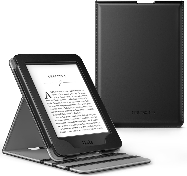 MoKo Kindle Paperwhite Funda - Premium Vertical Flip Smart Cover Case con Auto-Sueño / Estela para Amazon All-New Kindle Paperwhite (Compatible con 2012, 2013, 2015 y 2016), Negro