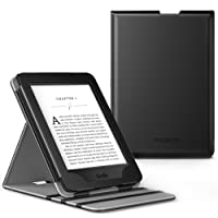 MoKo Kindle Paperwhite Case - Copertura di Vibrazione Verticale Custodia per Amazon Nuovo Kindle Paperwhite (Adatto Tutte le versioni 2012, 2013, 2015 e 2016), NERO