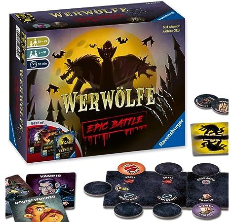 Unbekannt Lui Meme LUI0001 – Die Werwölfe Vom Düsterwald (Los Hombres Lobo de Castronegro), Juegos de Cartas (en alemán): Amazon.es: Juguetes y juegos