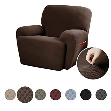 Fantastic Maytex Pixel Ultra Soft Stretch 4 Piece Recliner Arm Chair Furniture Cover Slipcover With Side Pocket Chocolate Brown Ibusinesslaw Wood Chair Design Ideas Ibusinesslaworg