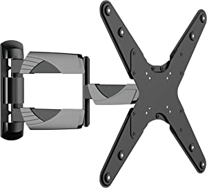 Curved TV Wall Mount Full Motion Bracket (05425A) for Most 23-65 Inch LED/LCD/Plasma Flat TV Screen, Tilt 15°, Swivel 90°, VESA Up to 400x400, Cold-Rolled Steel material, Max Load 77lbs.Power by ProHT