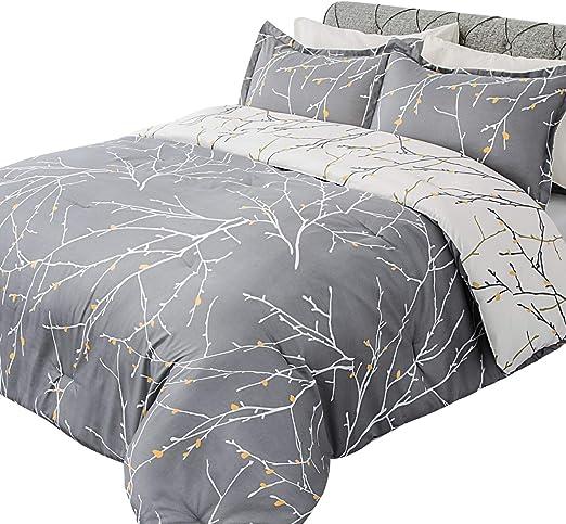 Amazon.com: Bedsure Comforter Set Queen Size, Reversible Down