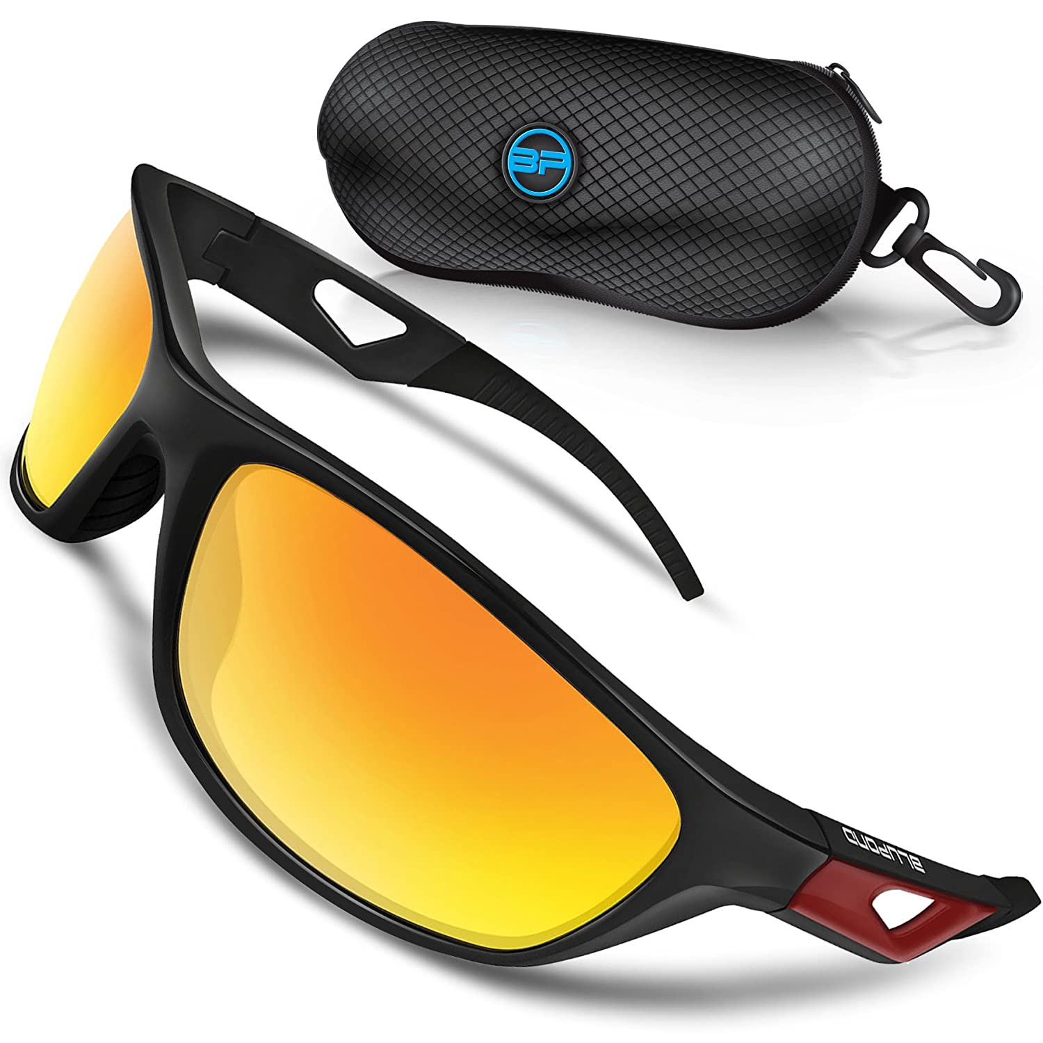 29f13832566 Amazon.com  BLUPOND Polarized Sports Sunglasses for Men - TR90 Unbreakable  Frames for Golf Cycling Driving - Scout  Sports   Outdoors
