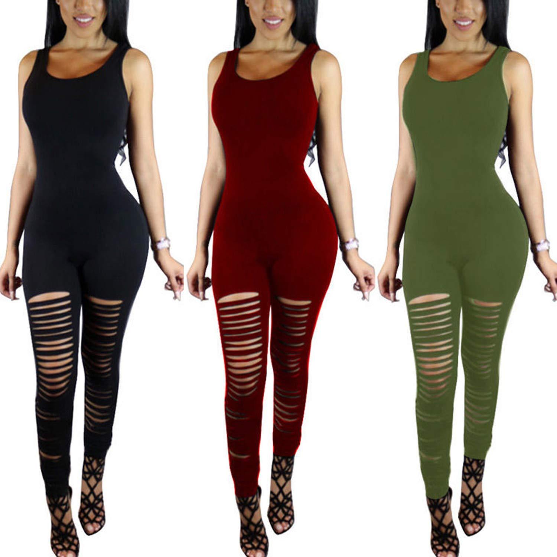 Anewsex Women Sleeveless Sleeveless O Neck Cotton Bodysuit Long Pants