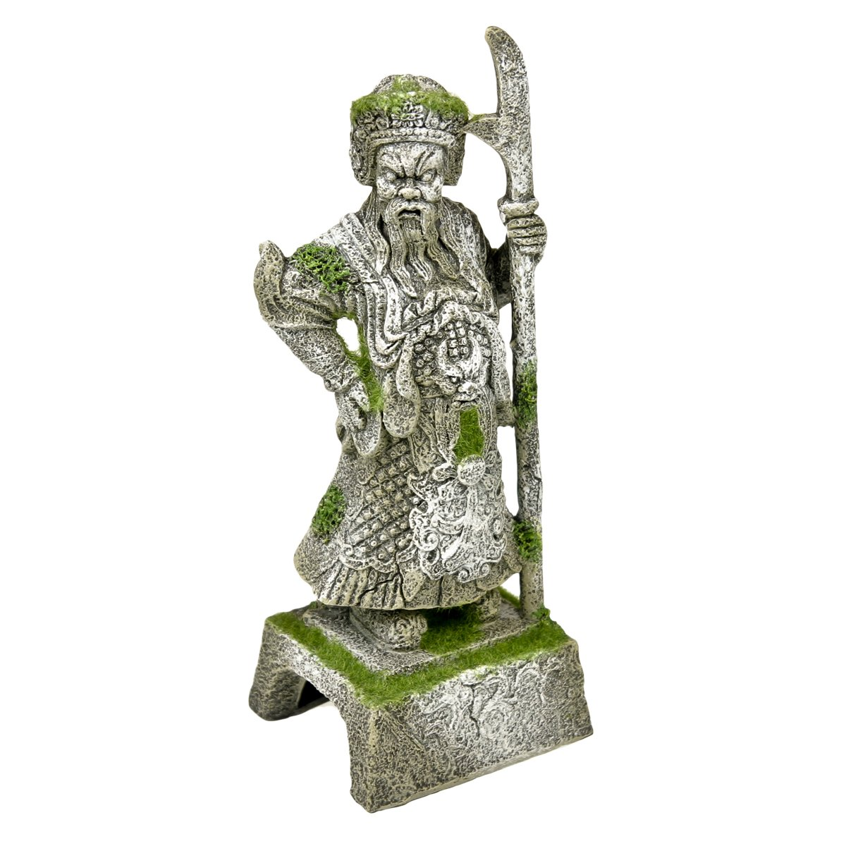 Blue Ribbon PET PRODUCTS EE-695 Exotic Environments Thai Warrior Statue with Moss