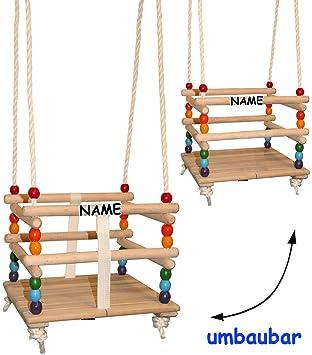 Bekannt Unbekannt Gitterschaukel - UMBAUBAR - incl. Name - mit abnehmbaren UU99