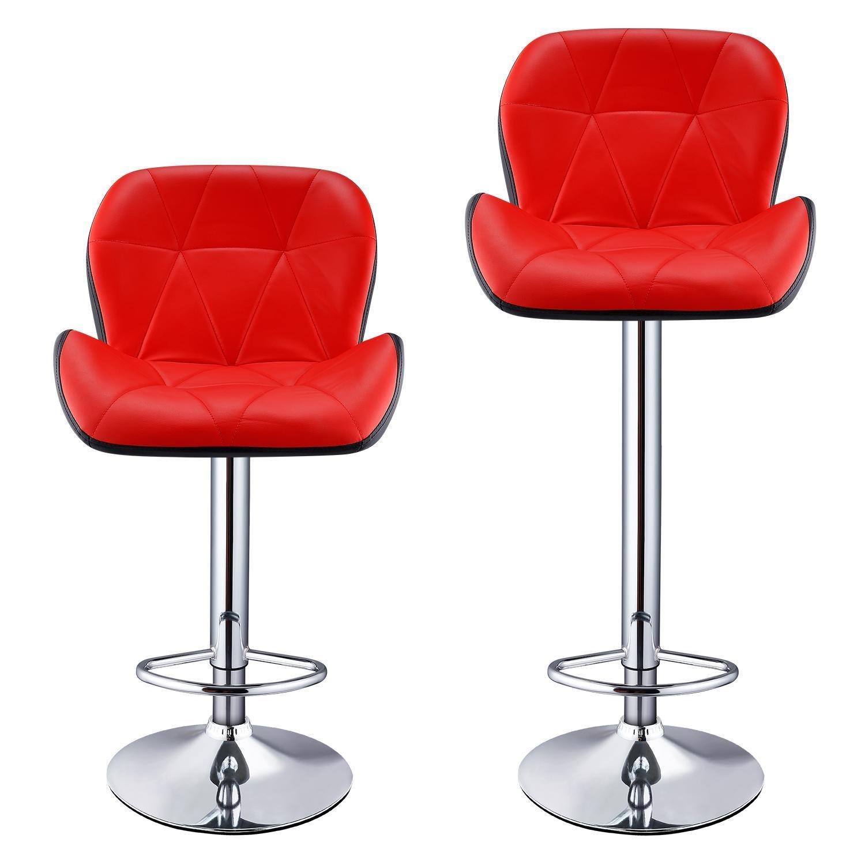 Stupendous Amazon Com Hindom Bar Stools Modern Leather Adjustable Spiritservingveterans Wood Chair Design Ideas Spiritservingveteransorg