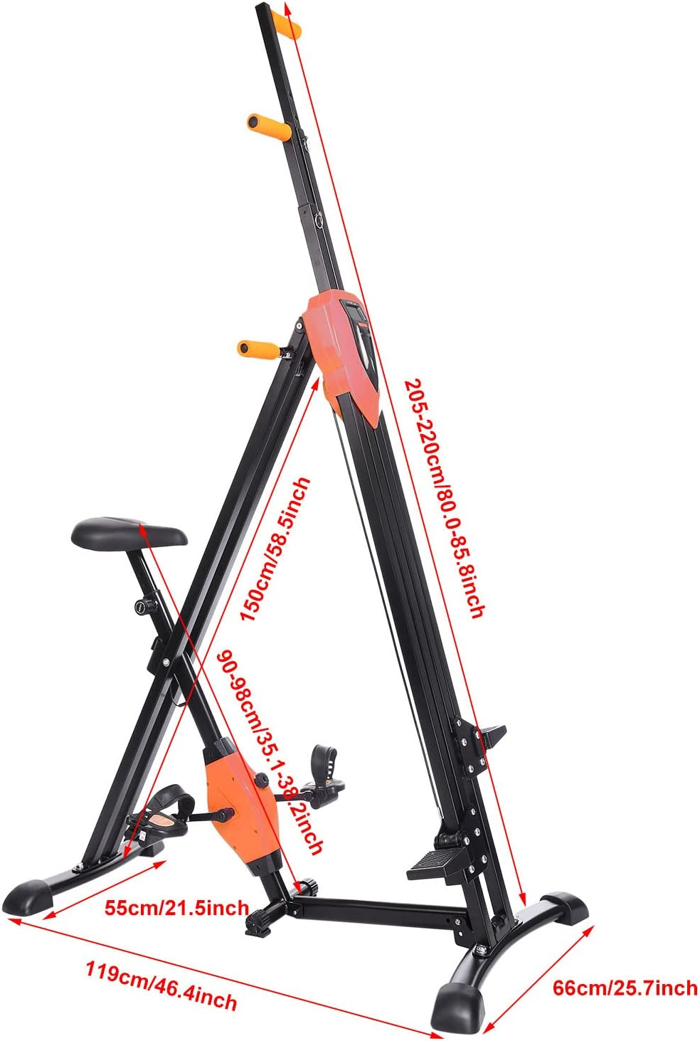 Folding Exercise Climbing Machine,Total Body Workout Climber Machine for Home Gym Flyerstoy Vertical Climber Cardio Exercise Exercise Bike for Home Body Trainer