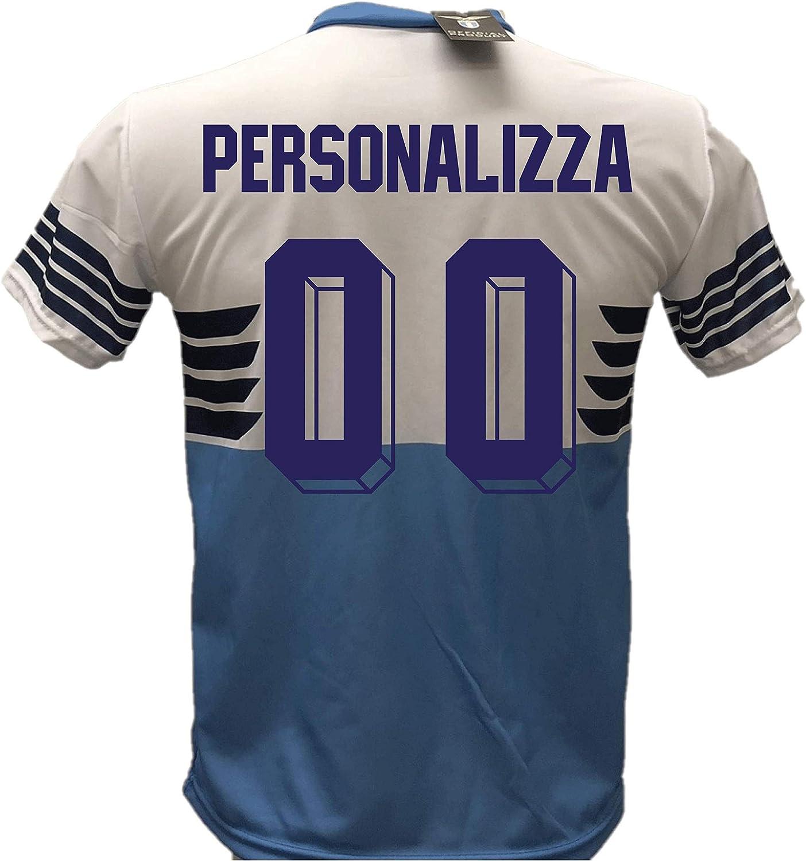 Camiseta de fútbol Lazio personalizable réplica autorizada 2018-2019 para niño (tallas 6, 8, 10, 12), adulto (S, M, L, XL): Amazon.es: Ropa y accesorios