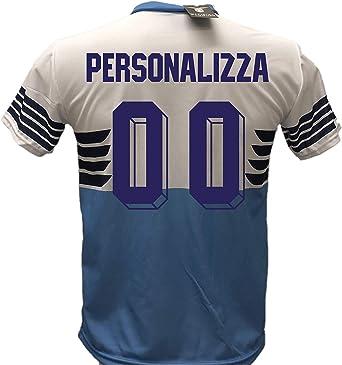 Camiseta de fútbol Lazio personalizable, réplica autorizada 2018-2019 para niño (tallas 6, 8, 10, 12) para adulto (S, M, L, XL): Amazon.es: Ropa y accesorios