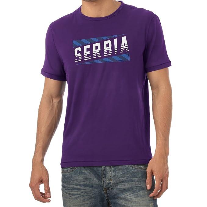 Texlab Team Serbia Camiseta, Hombre, Morado, Small: Amazon.es ...