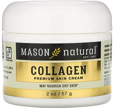 Crema facial de colágeno 100% puro para una piel tersa y firme de Mason Natural: Amazon.es: Belleza