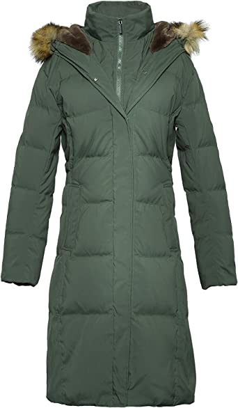 Frieed Mens Stand Collar Quilted Zipper Thicken Hooded Long Down Jacket