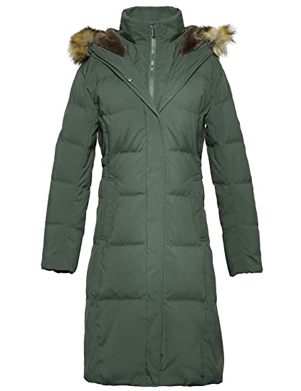 635ef8dc4 ADOMI Women's Long Hooded Thickened Down Coat with Fur Trim