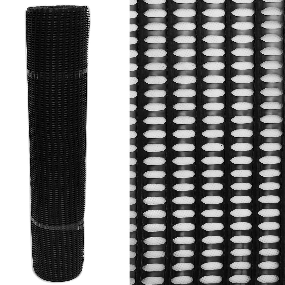 60% High Strength Windbreak Fence Netting Plastic Mesh 1m wide by the Metre, Black True Products