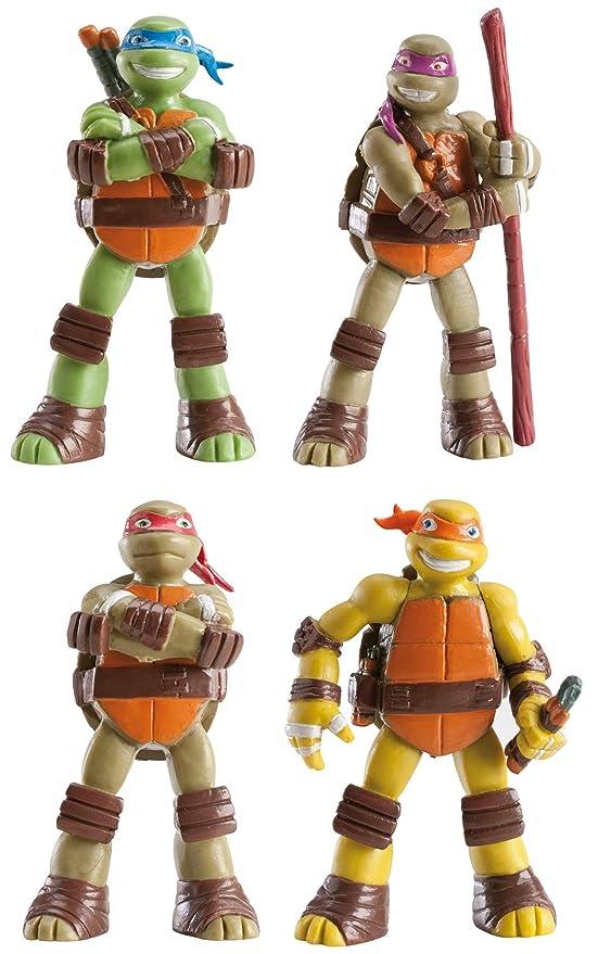 COOLMP - Juego de 3 Figuras de Tortugas Ninja - Talla única ...