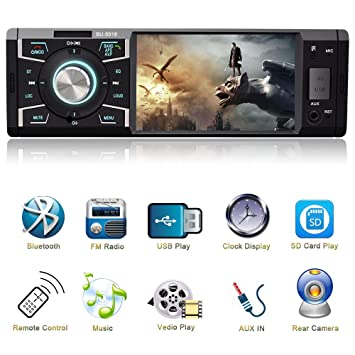 4 1 Inch Car Stereo with Bluetooth Single Din Car: Amazon co uk