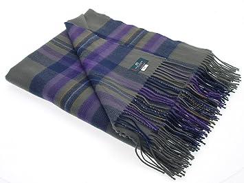 Couverture Ecossaise en tartan Heather Isle 100% laine fabriqué en Ecosse 68e91fc59bf